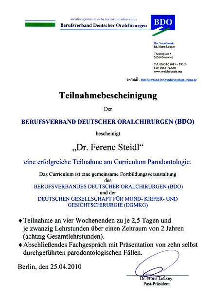 Zertifizierung-Parodontologie-DGMKGBDO