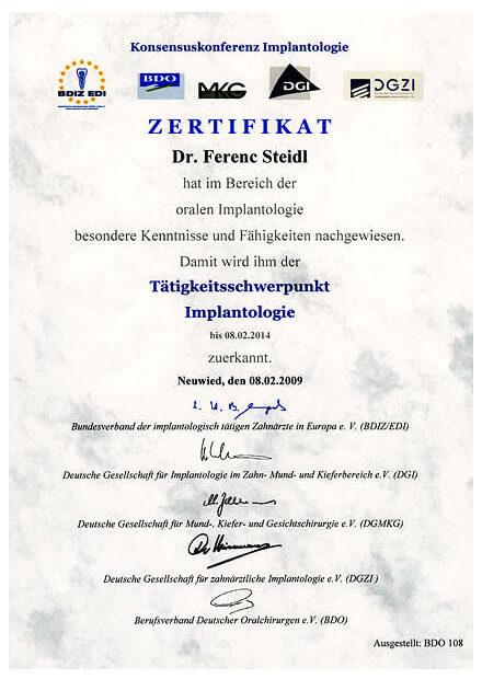 Zertifizierung-Implantologie